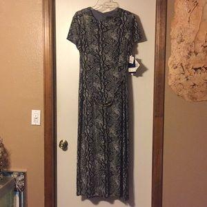 NWT: Scarlett metallic thread leo maxi dress , 14